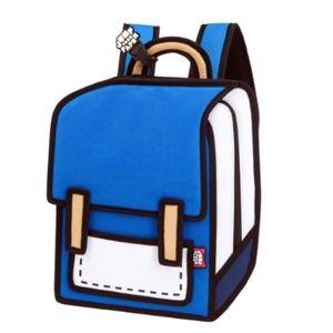 Super Cute Pop Art Jump From Paper Backpack
